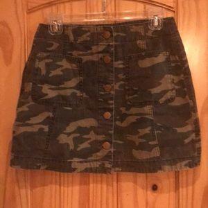 ASOS Camouflage mini skirt